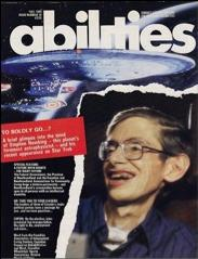 Stephen Hawking on the cover of Abilities magazine