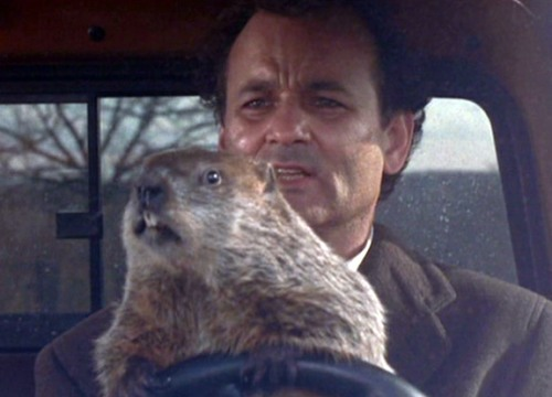 A scene from the Groundhog Day movie