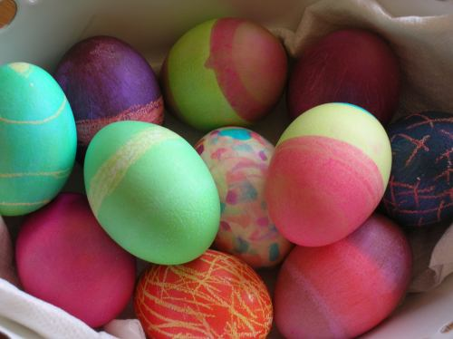 Picture of colourful painted Easter eggs