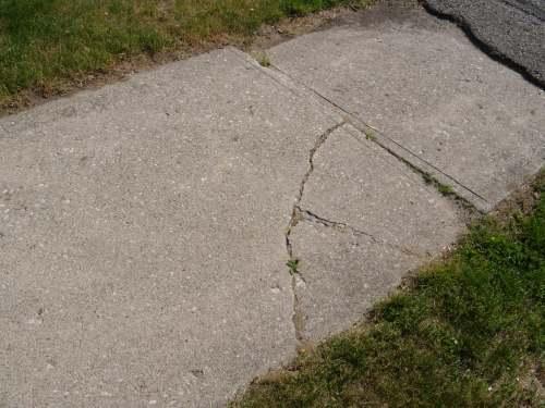 Sidewalk in disrepair