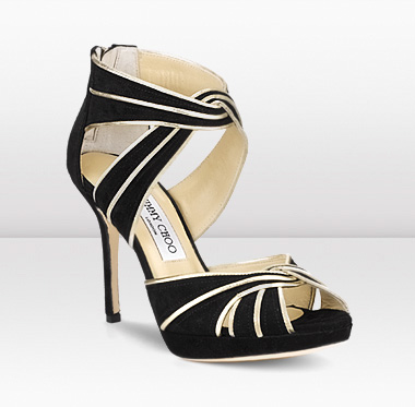A pair of Jimmy Choo high-heeled sandals