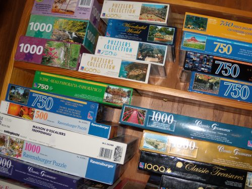 """I won't use the phrase """"puzzle obsession,"""" but you can see why I could afford to give a few away."""