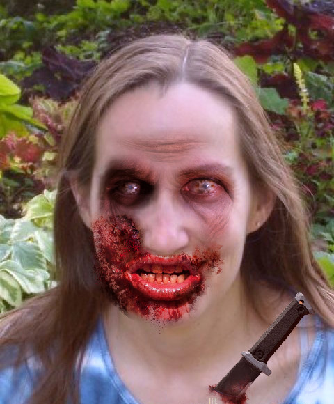 How I'd look if I succumbed to the zombie apocalypse: No one promised it would be pretty. (Dead yourself at http://www.amctv.com/shows/the-walking-dead/dead-yourself.)