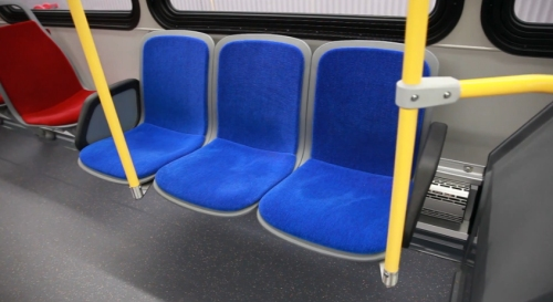 Yes, it's priority seating for Smurfs who have difficulty smurfing when  they go out to smurf. (Photo courtesy of Toronto Transit Commission)