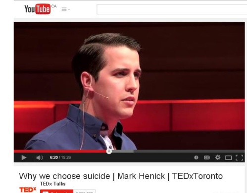 """Mark writes on YouTube: """"I've always modelled myself on the idea that any stranger can save a life."""""""